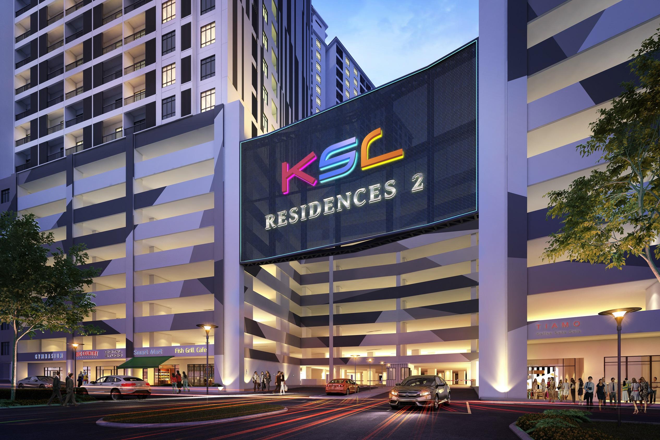 KSL Residences 2 Entrance Night Scene